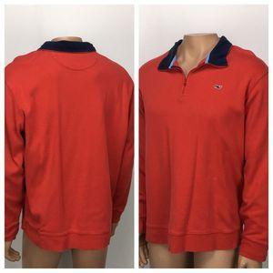 Vineyard Vines Jersey 1/4 Zip Shirt STYLE# 1K0315